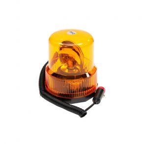 Проблесковый маяк (мигалка) галогеновый 24 вольт желтый на магните стакан высота 140 мм