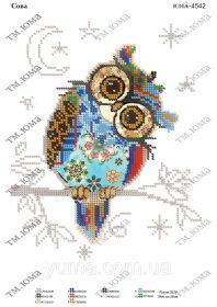 ЮМА ЮМА-4542 Сова схема для вышивки бисером купить оптом в магазине Золотая Игла - вышивка бисером