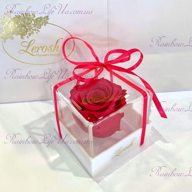 """Бутон розы в коробке малиновая """"Classic"""""""