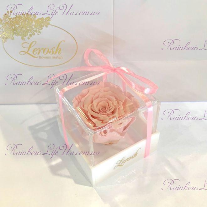 "Бутон розы в коробке розовая ""Classic"""