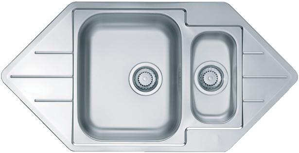 Интегрированная кухонная мойка ALVEUS Line 40 98.5х50см