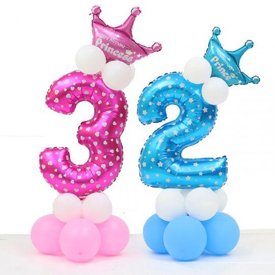 Цифра с короной фигура из шаров