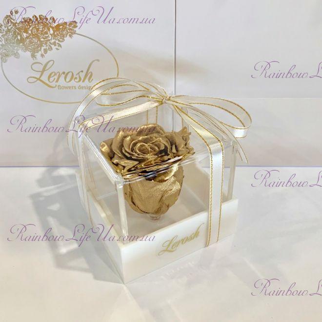 "Бутон розы в коробке золото ""Classic"""