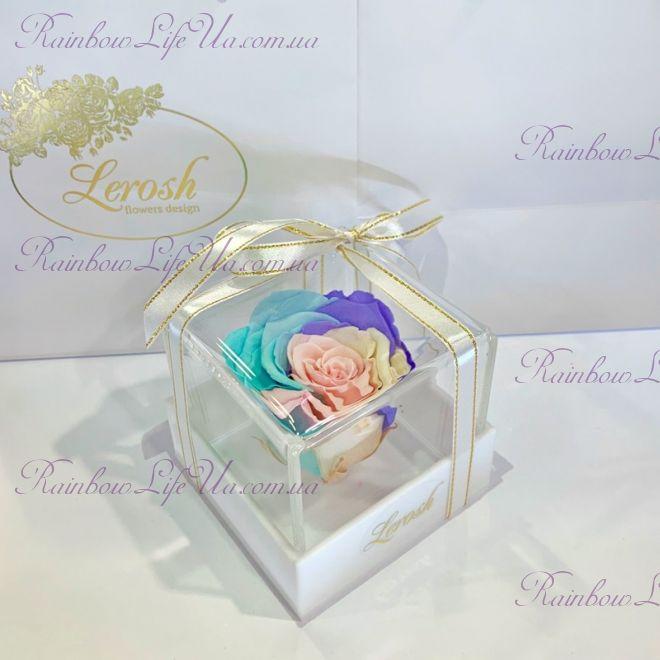 """Бутон розы в коробке цветная """"Classic"""""""