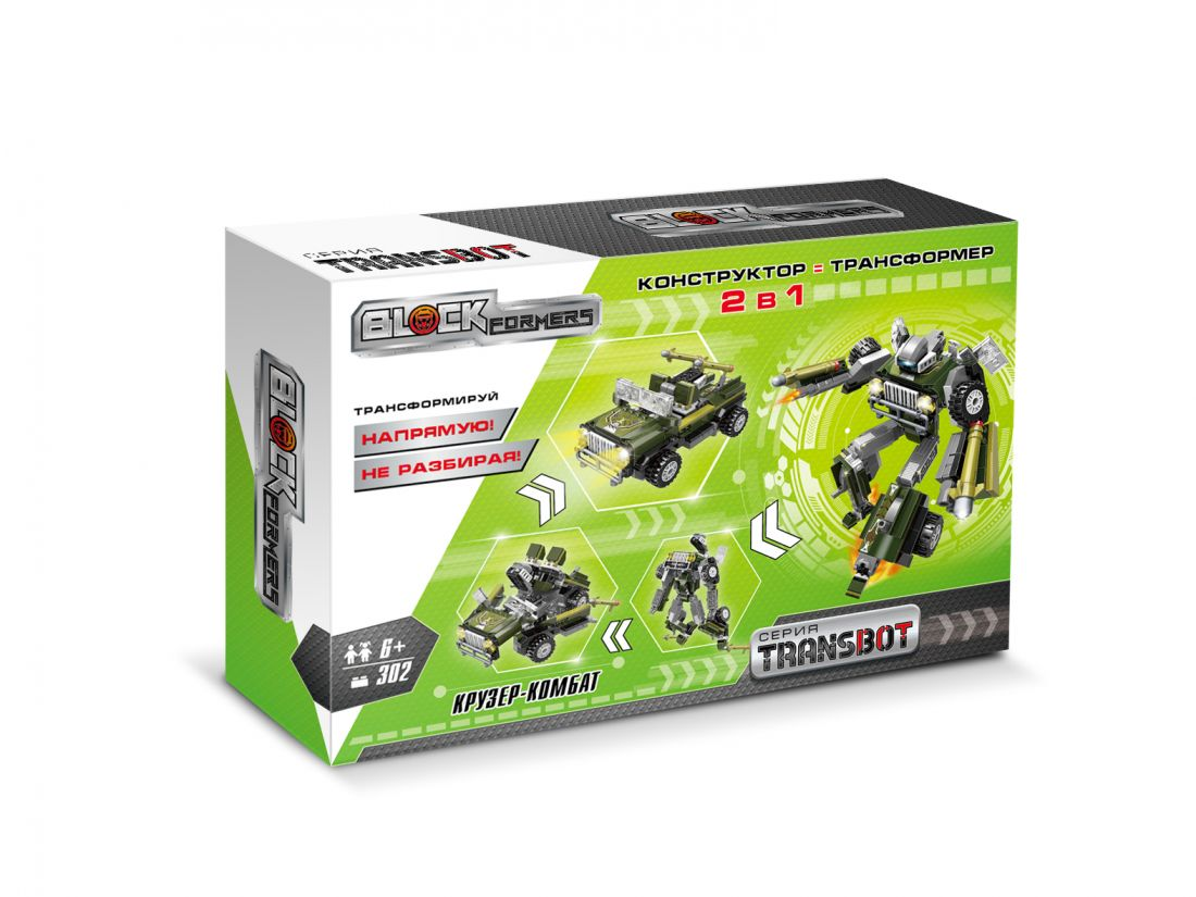1TOY Blockformers Transbot конструктор  Крузер-Комбат , коробка