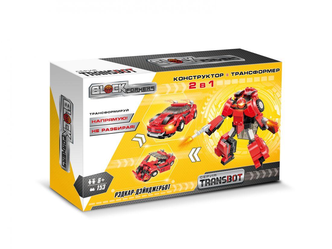 1TOY Blockformers Transbot конструктор  Рэдкар-Дэйнжербот , коробка