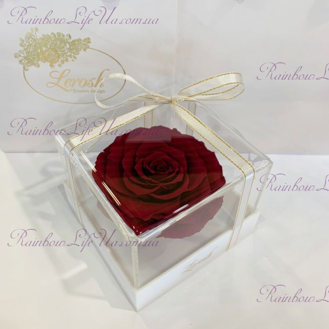 "Бутон розы в коробке бордовая ""Lux"""