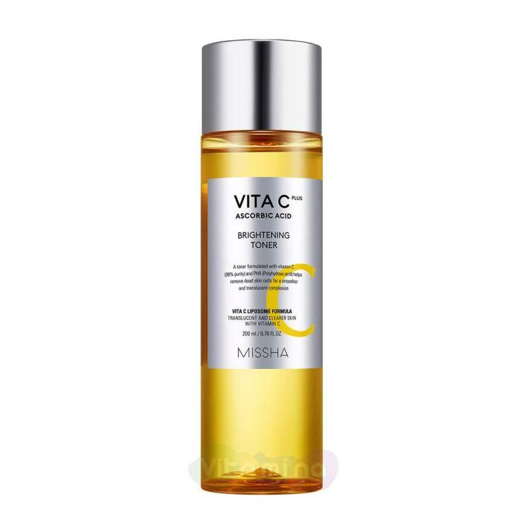 Missha Антивозрастной тонер с витамином С для лица Vita C Plus Brightening Toner, 200 мл