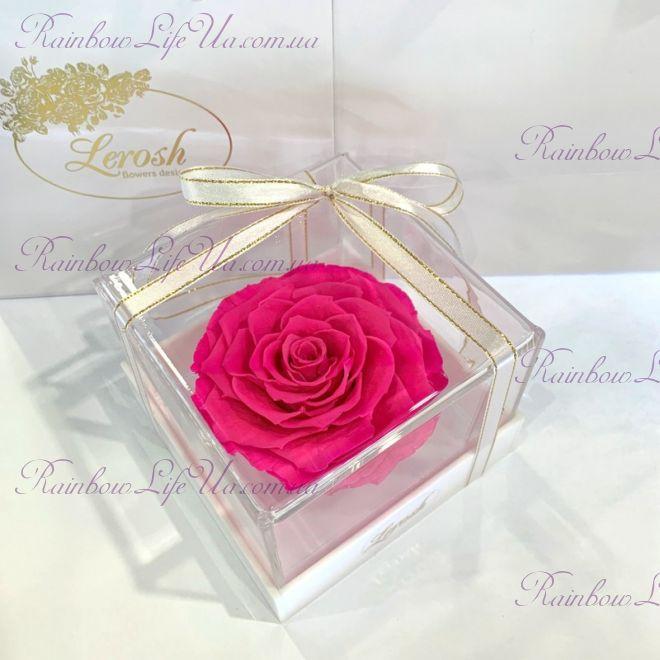 """Бутон розы в коробке фуксия """"Lux"""""""