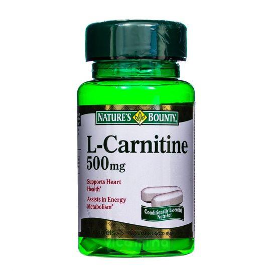 Нэйчес Баунти L-Карнитин 500 мг, 30 табл