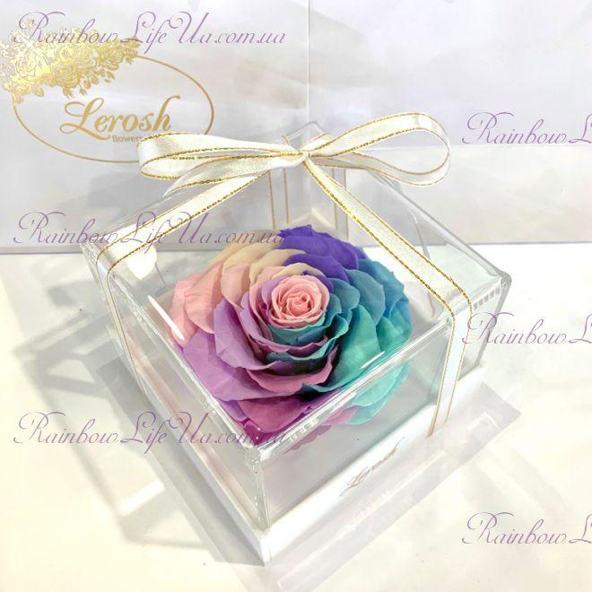 "Бутон розы в коробке цветная ""Lux"""