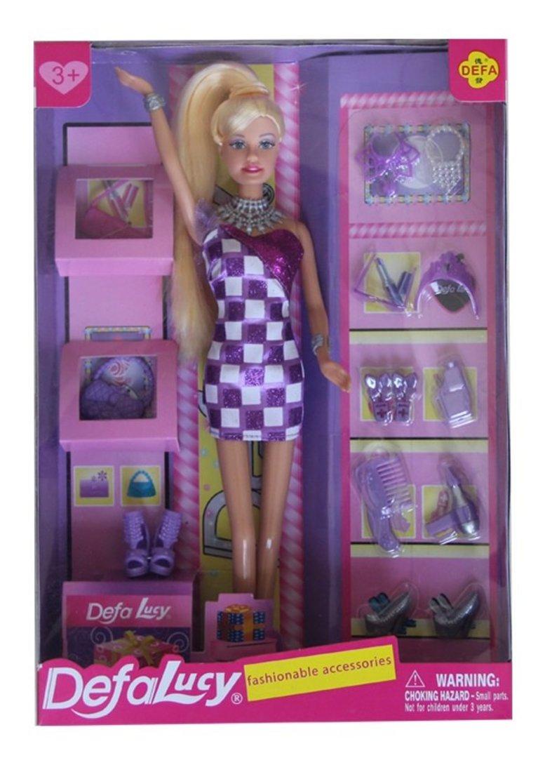 Игр. наб. Defa Lucy   Модница , в компл. кукла 29см, предм. 18шт., кор