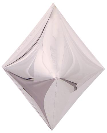 Ромб серебро 3d шар фольгированный с гелием