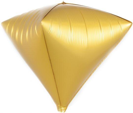 Кристалл золото 3d шар фольгированный с гелием