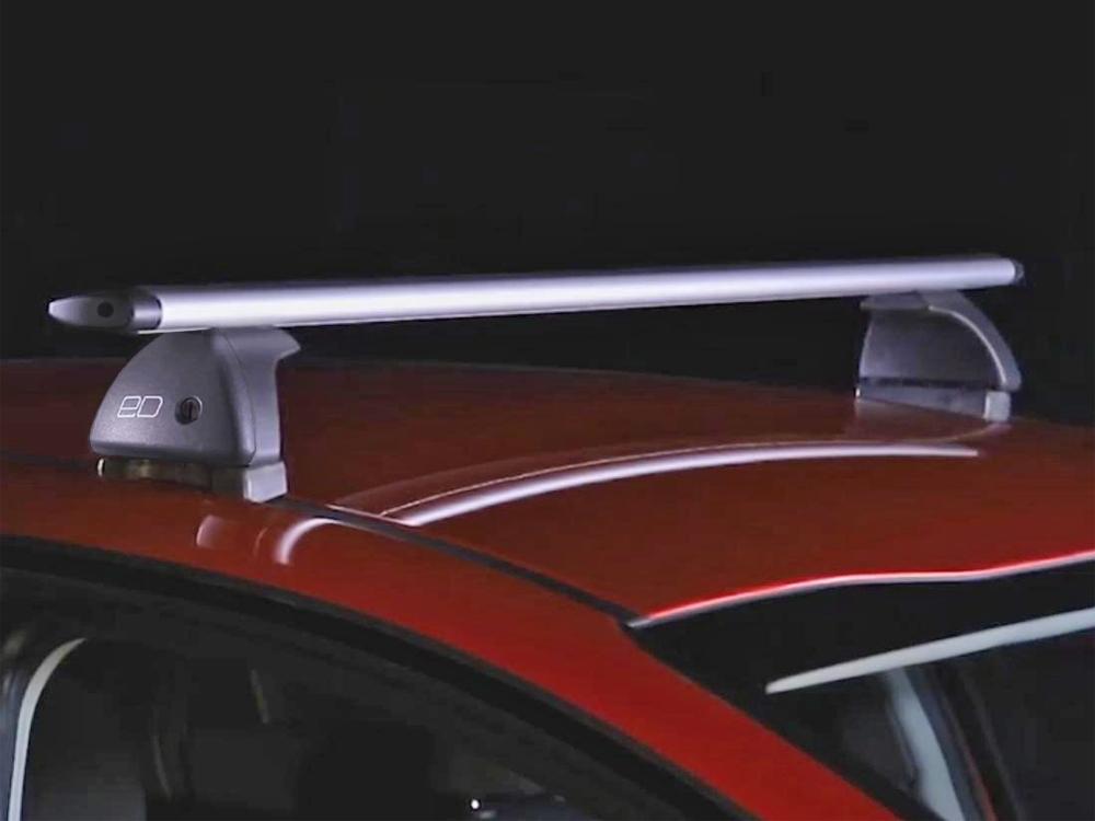 Багажник на крышу Mazda CX-7, Евродеталь, крыловидные дуги