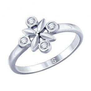 Кольцо из серебра с фианитами 94012787 SOKOLOV