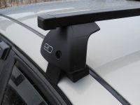 Багажник на крышу Kia Optima IV (2015-...), Евродеталь, стальные прямоугольные дуги