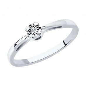 Кольцо из серебра с бриллиантом 87010047 SOKOLOV