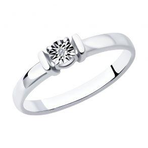 Кольцо из серебра с бриллиантом 87010050 SOKOLOV