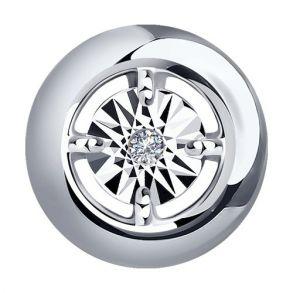 Подвеска из серебра с бриллиантом 87030032 SOKOLOV