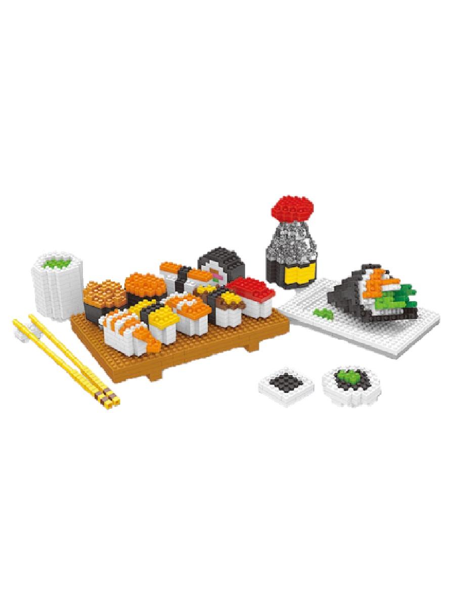 Конструктор Wisehawk & LNO Суши-роллы 1600 деталей NO. 2341 Sushi-rolls 6 in 1 Series