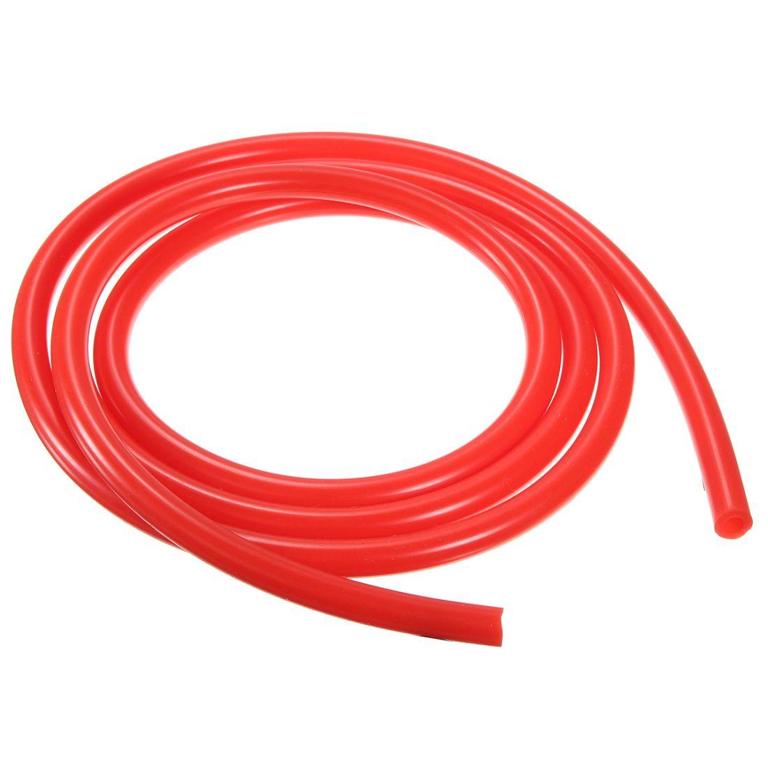 Шланг ПВХ, повышенной жесткости, 12*8 мм, 1 метр, красный