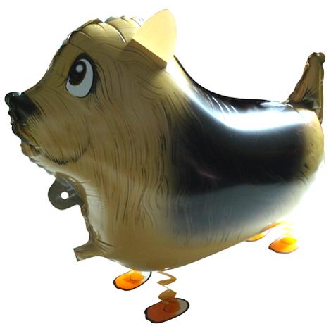 Фокстерьер ходячий шар фольгированный с гелием