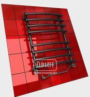 Черный электрический полотенцесушитель Двин R primo electro 80/50