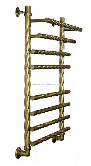 Бронзовый водяной полотенцесушитель Двин F braid 80/50