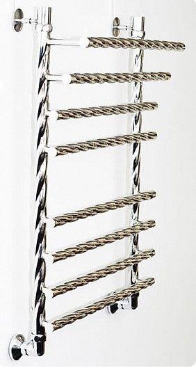 Черный водяной полотенцесушитель Двин F braid 80/50