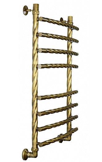 Бронзовый водяной полотенцесушитель Двин R braid 80/50