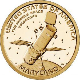 Телескоп Хаббл Мерилэнд 1 доллар США  2020 Инновации Монетный двор на выбор