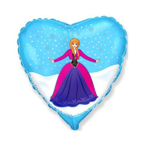 Сердце Персонаж 2 шар фольгированный с гелием