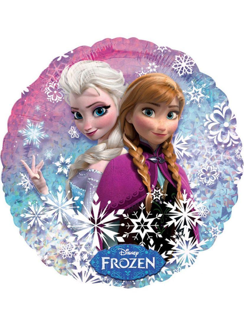 Анна и Эльза Холодное сердце шар фольгированный круглый с гелием