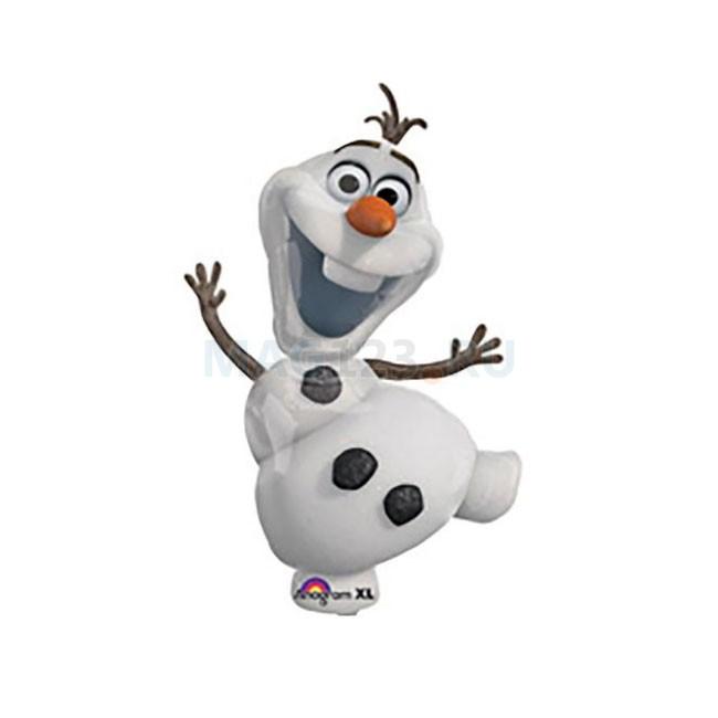 Олаф снеговик Холодное сердце фигурный шар фольгированный с гелием