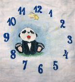 Схема для вышивки крестом Часы Пушняшки Blue. Отшив.
