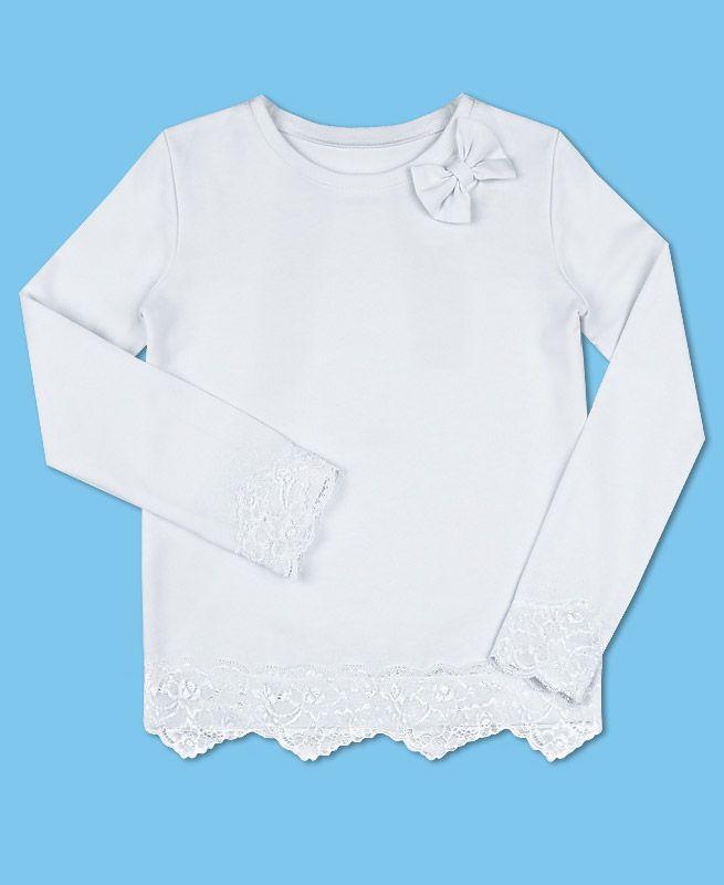 Белый школьный джемпер для девочки