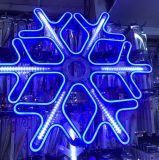 Снежинка из неона 60х60 см синий