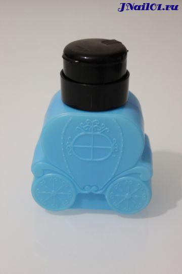 Дозатор пластиковый с помпой Карета (голубой) 150 мл.
