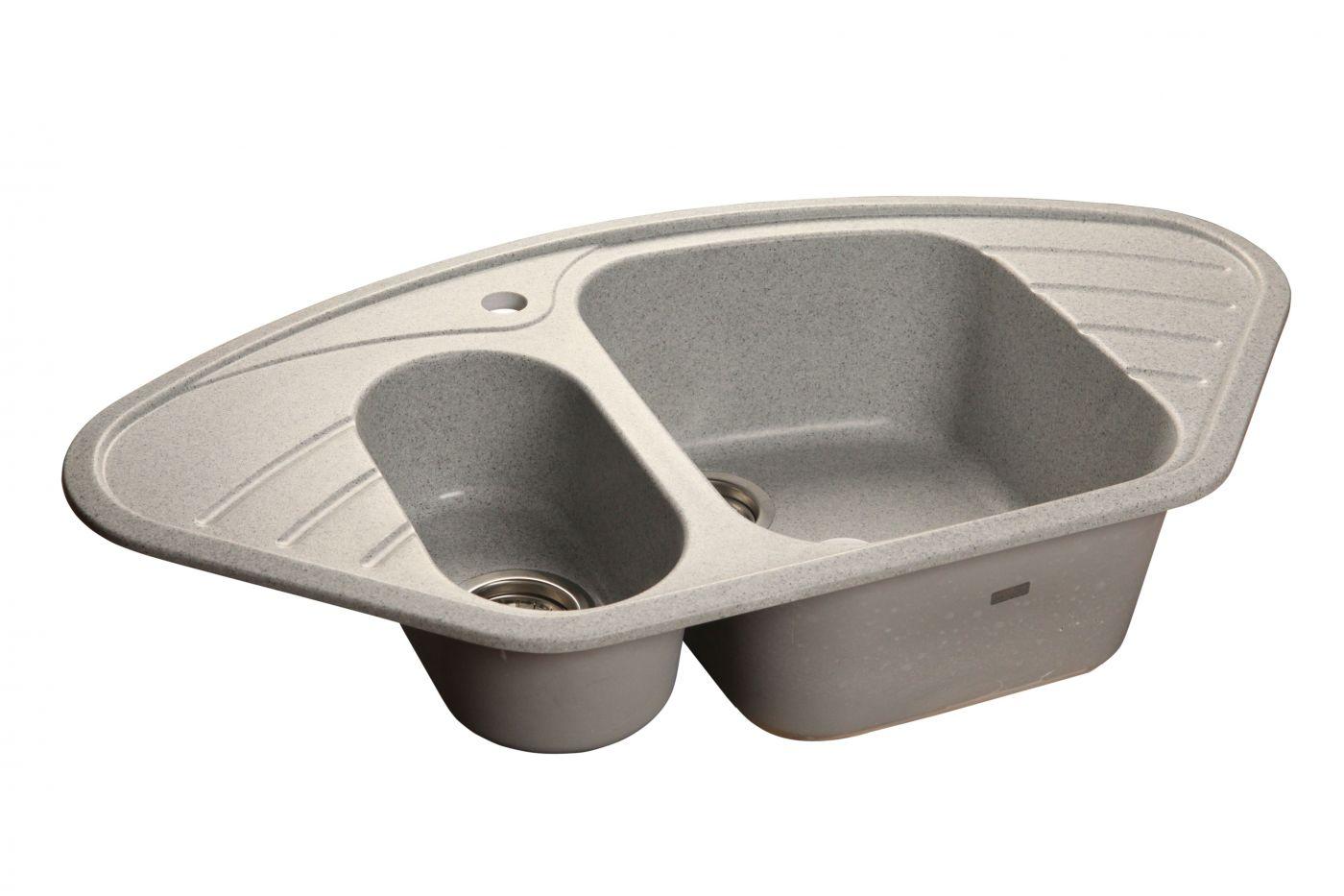 Мраморная мойка GranFest Corner GF-C960E Серый