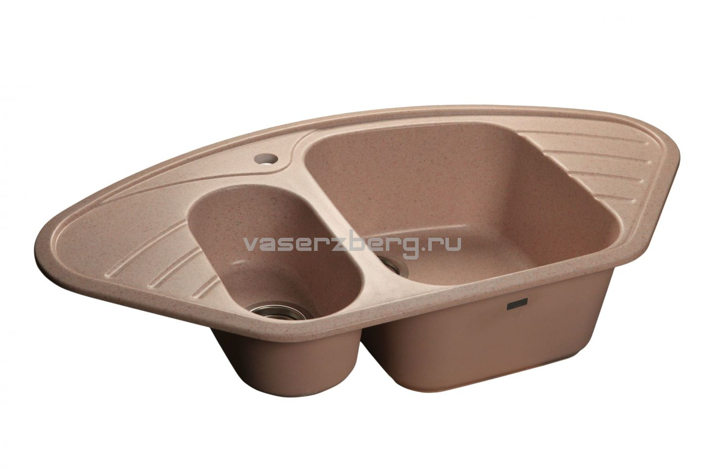 Мраморная мойка GranFest Corner GF-C960E Светло-розовый