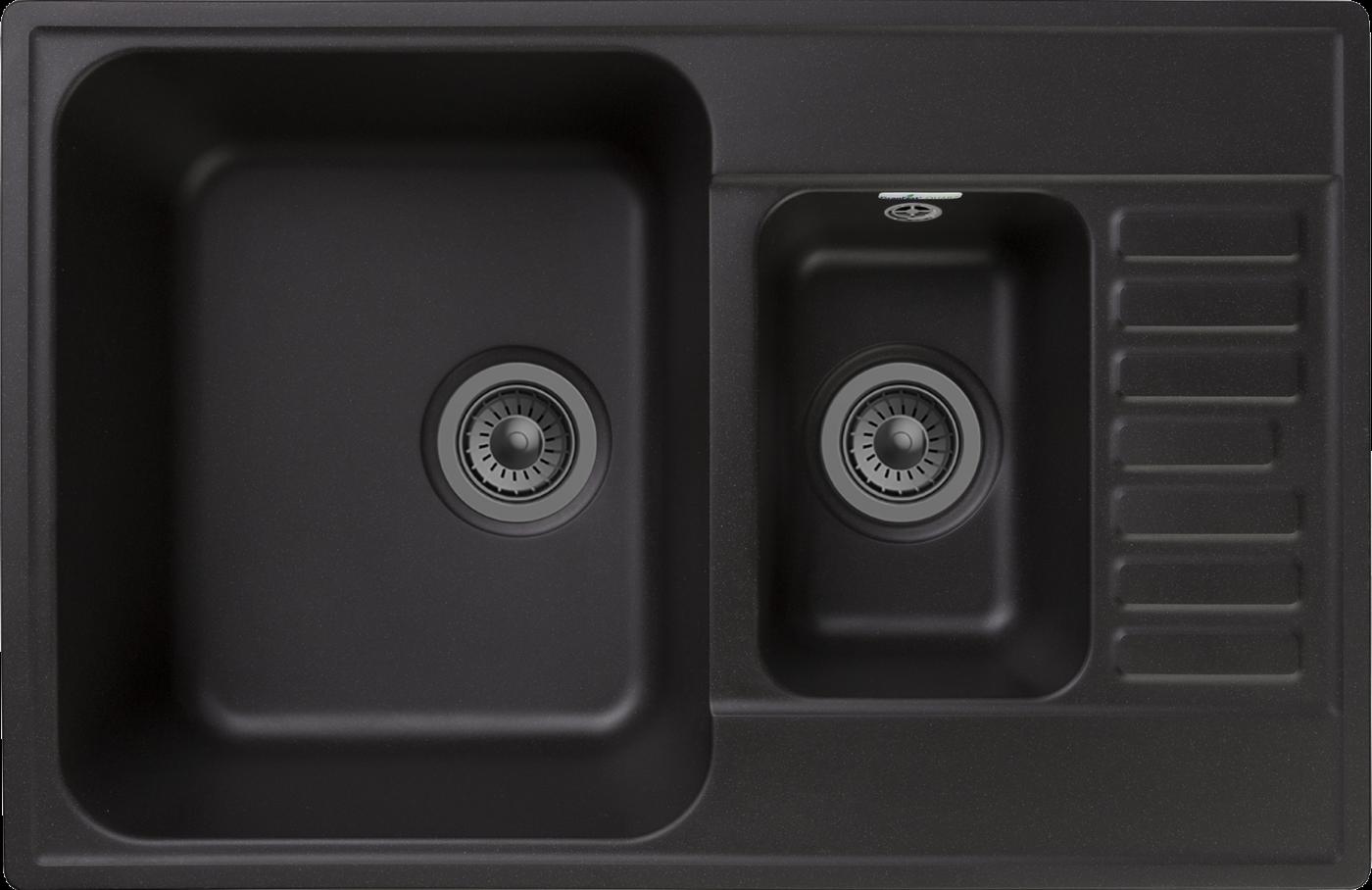 Кухонная мойка GranFest Quarz Z-21K Черный