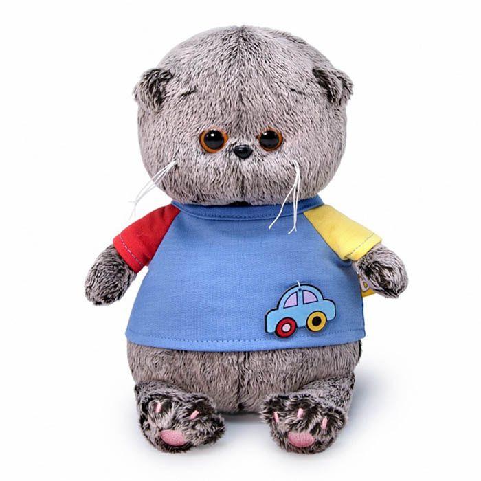 Кот Басик BABY в футболке с машинкой ВВ-064