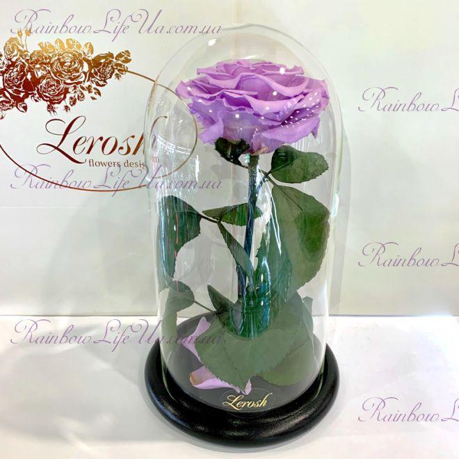 """Роза в колбе лиловая 27 см """"Premium"""""""