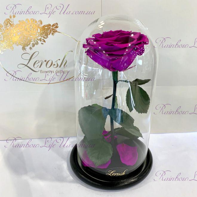 """Роза в колбе фиолетовая 27 см """"Premium"""""""
