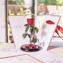 """Стабилизированная роза в колбе 27 см бирюзовая """"Premium"""""""