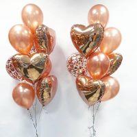 Фонтаны из гелиевых шаров Розовое золото - Облако шаров