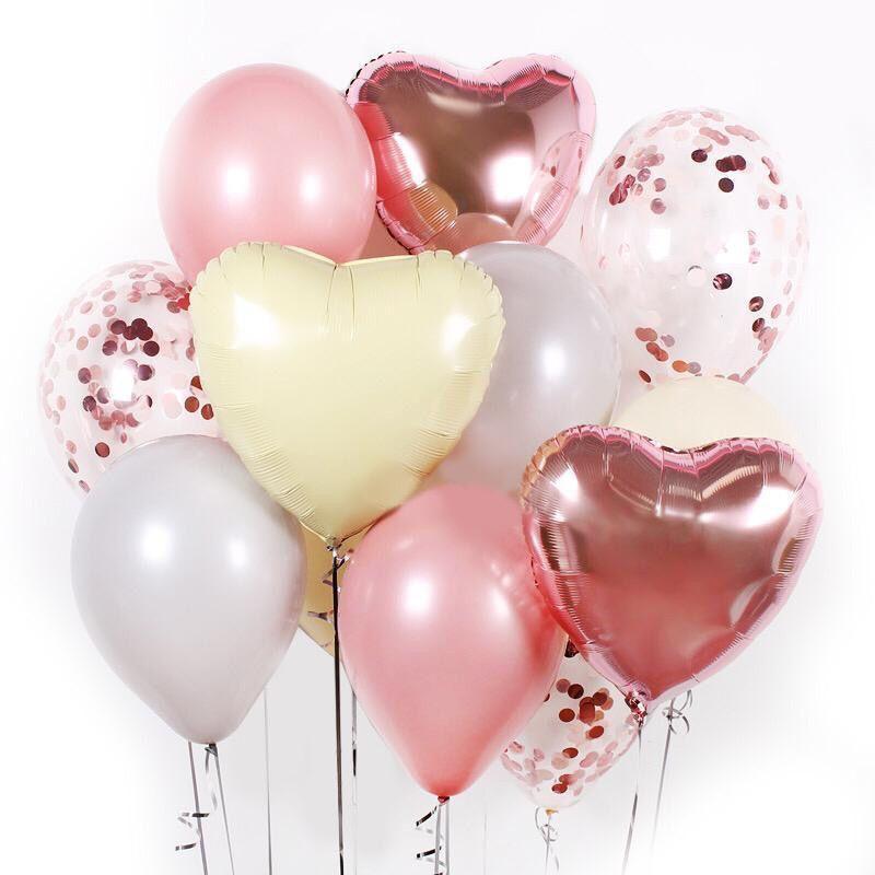 Букет из гелиевых шаров Подарочный розовый