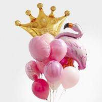 Букет из гелиевых шаров с короной