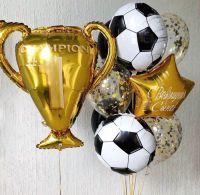 Букет из гелиевых шаров чемпиону футболисту